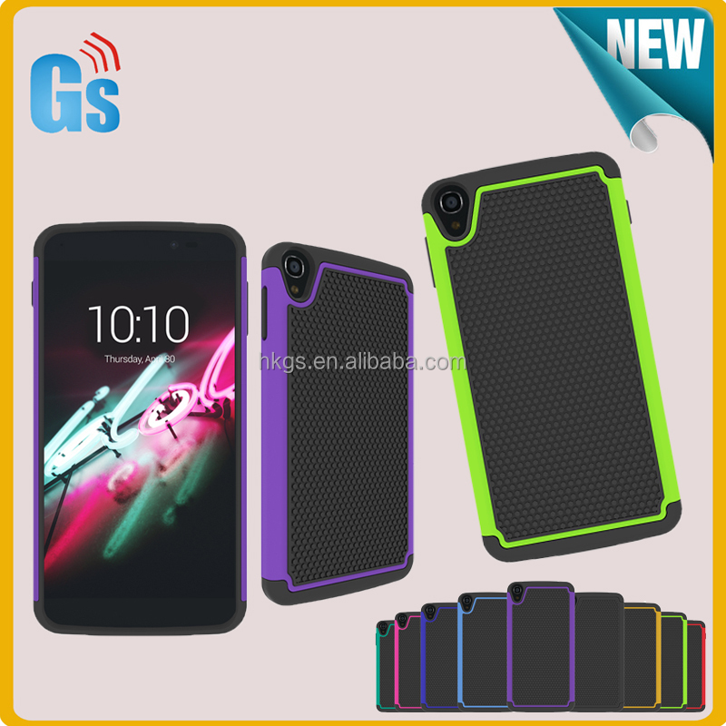 Heavy Duty Combo Football Silicone + Pc Shockproof Case For Alcatel One  Touch Idol 3 5 5 6045y 6045 - Buy Shockproof Case For Alcatel One Touch  Idol 3
