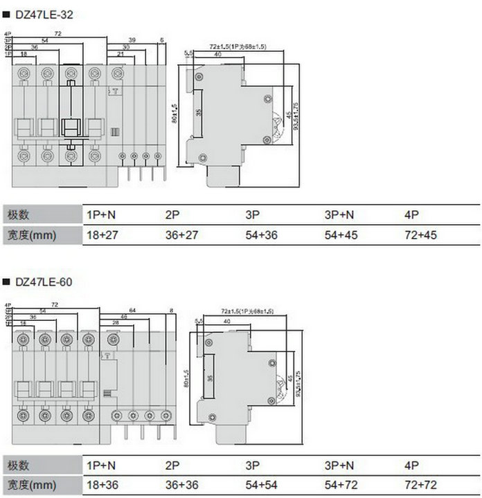 Amp Phase Elcb Rating Miniature Circuit Breaker With Low - Elcb wiring diagram drawing