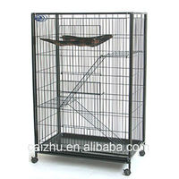 2 Level black Wrought Iron wire and tube Big Guinea Pig Cage