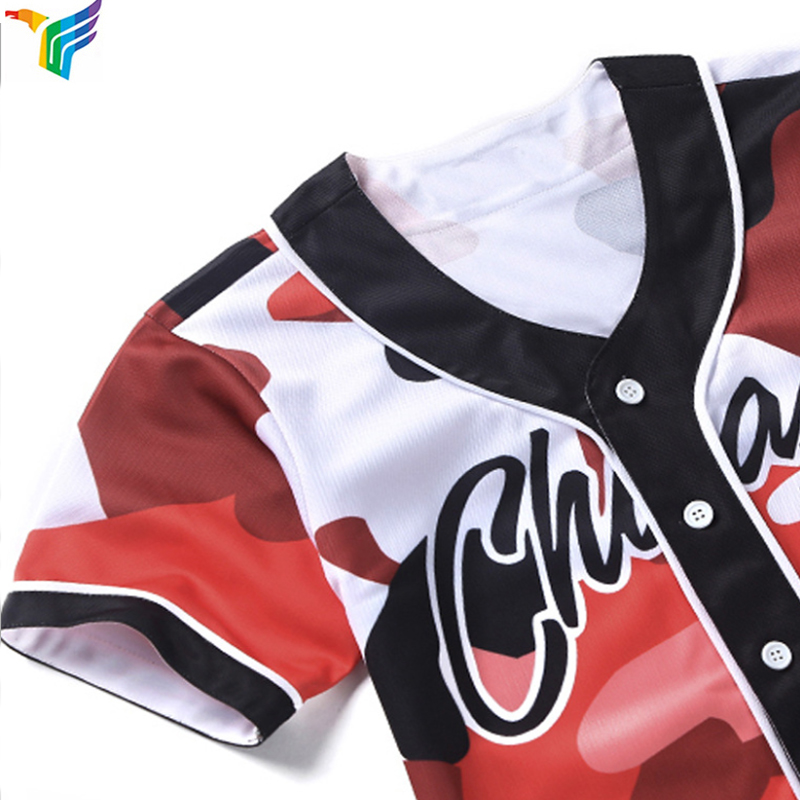 Groothandel Blanco Custom Sublimatie Digitale Camo honkbal jerseys