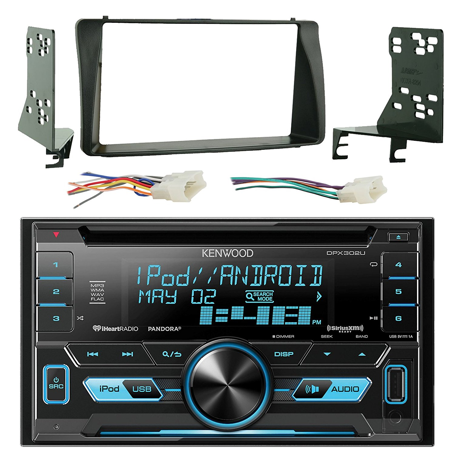 Get Quotations · Kenwood DPX302U Double Din CD MP3 Player Stereo Receiver  Bundle Combo With Metra 2-Din