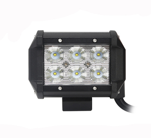 Spot/flood dual row crees 4inch 18w led driving light bar car led light bar truck