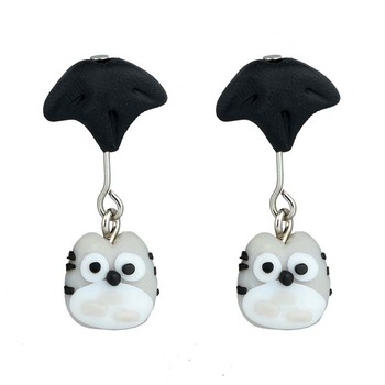 AP38095 3D Cartoon Animal Earring Jewelry Fashion Polymer Clay Umbrella Totoro Design Earrings For Girl