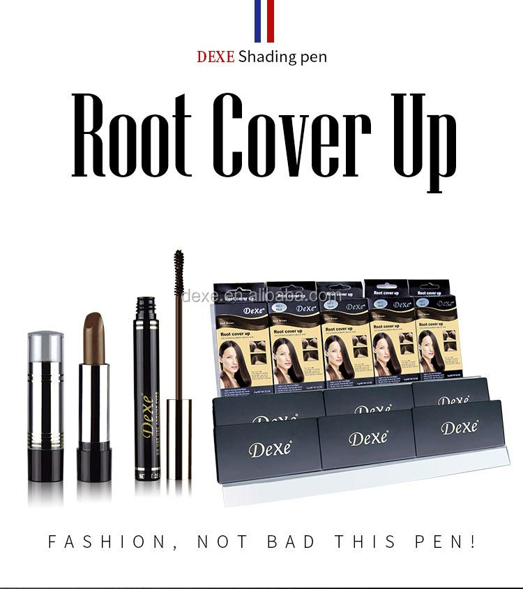 Japonés polvo temporal para colorear de tinte/nombre marca impermeable cuidado raíz cubierta de blanco de la raíz del pelo