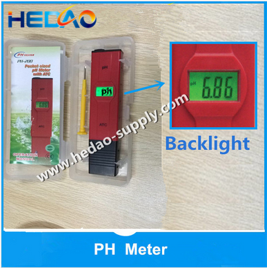 Newest pen design portable pH meter price with ATC Blacklight