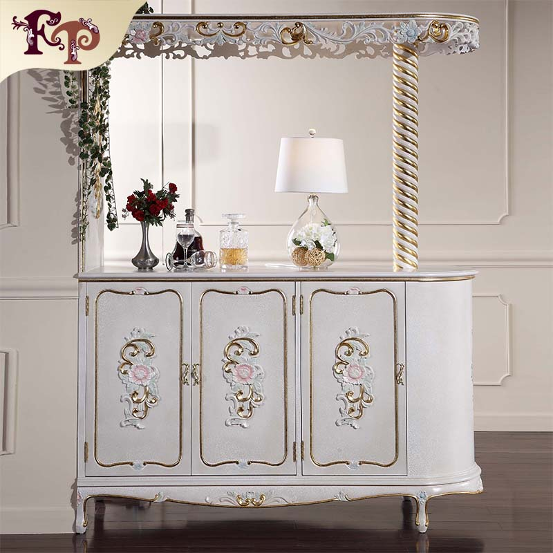 Royal Furniture French Style European Cabinet Rustic