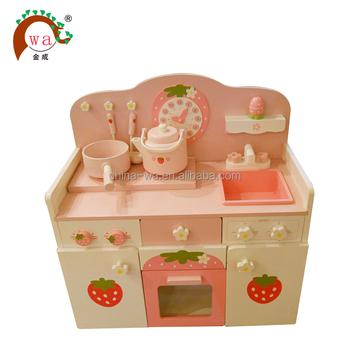 Juguete Buy Kits Con Cocina Los Color Niños De juego Juego Juguete Madera Vajilla PukXZi