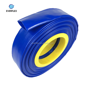 Customized large diameter 8 bar UV resistant pool use plastic layfalt discharge hose supply