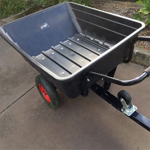 Three wheeled Small dump trailer bike trailer