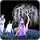 3.5m white artificial led lighted willow tree branches