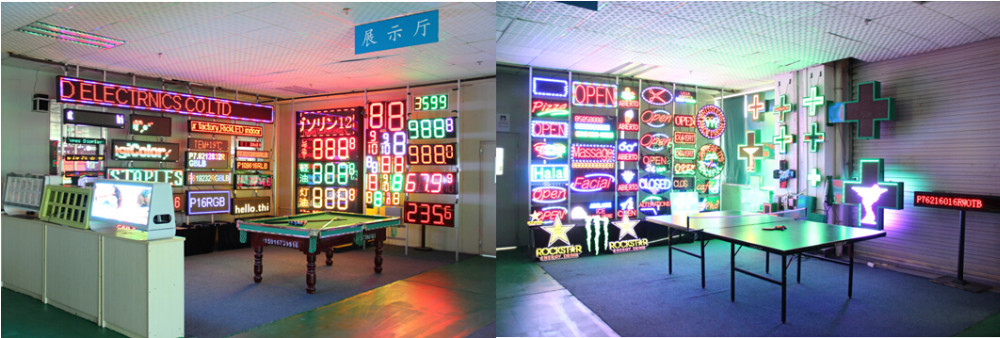 RF Remote Control 16inch Outdoor 7 Segment LED Display Screen Panel , LED Gas Price Changers Sign