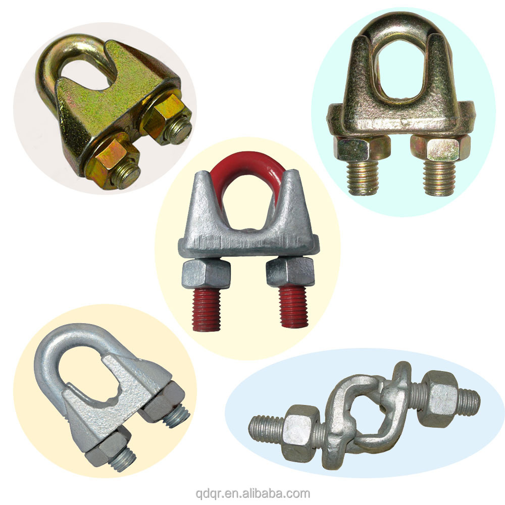 Us Type Drop Forged U Bolt Clamp Metal Cable Clamp Carbon Steel Wire ...