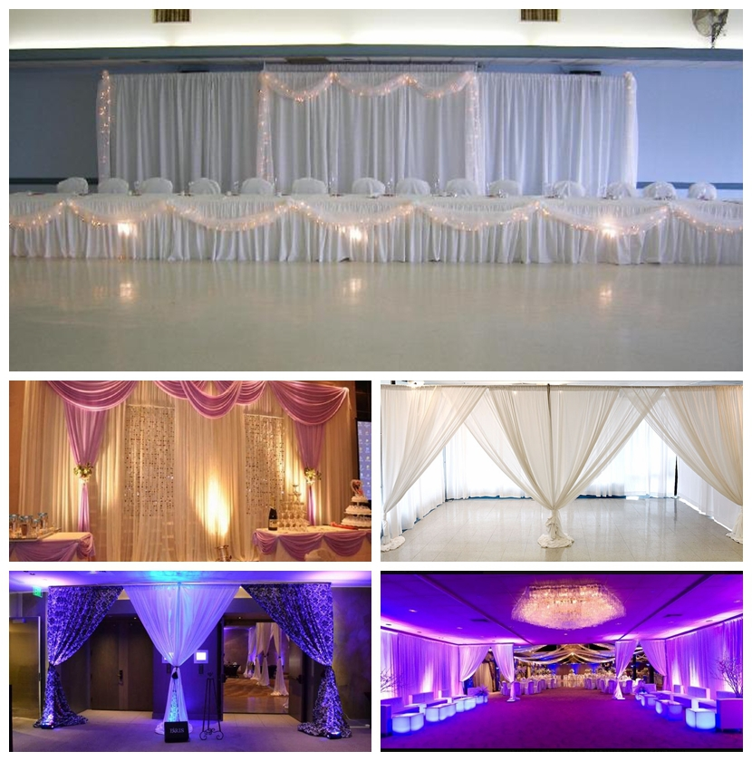 drape economical cheap weighted drapes pipe heavy with econpandd duty steel backdrop support and kit base