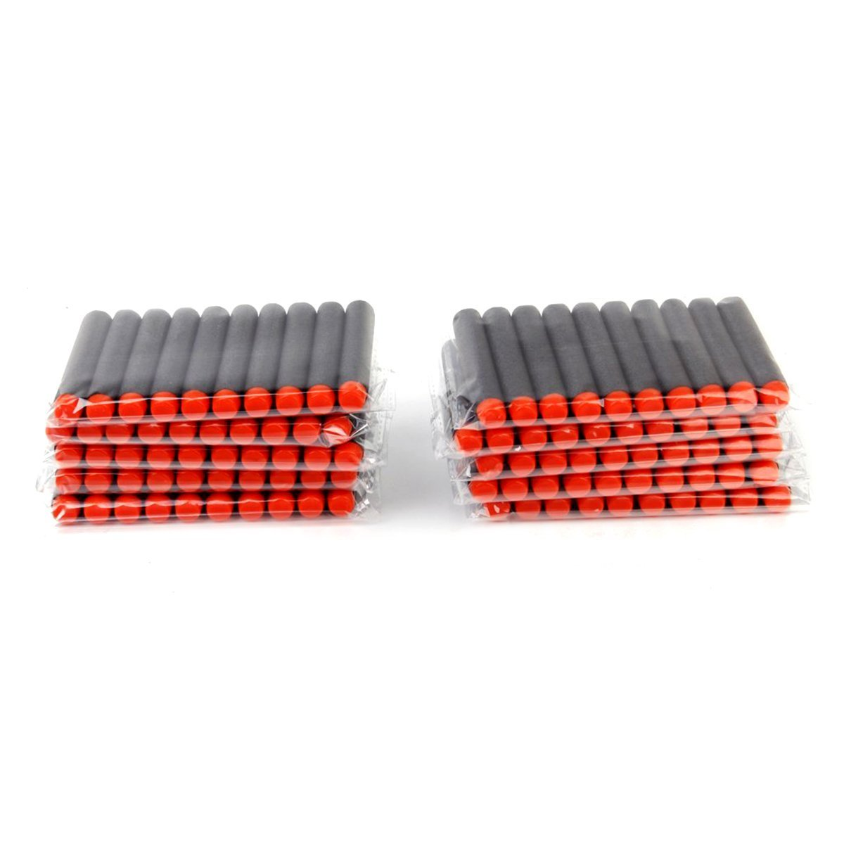 Rosenice 100pcs 7.2cm Foam Darts for Nerf N-strike Elite Toy Gun (Black)