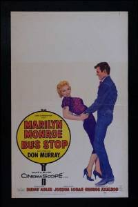 Unframed poster Bus Stop Movie D Marilyn Monroe Arthur O'Connell Hope Lange Don ...27x40inch(69x102cm)