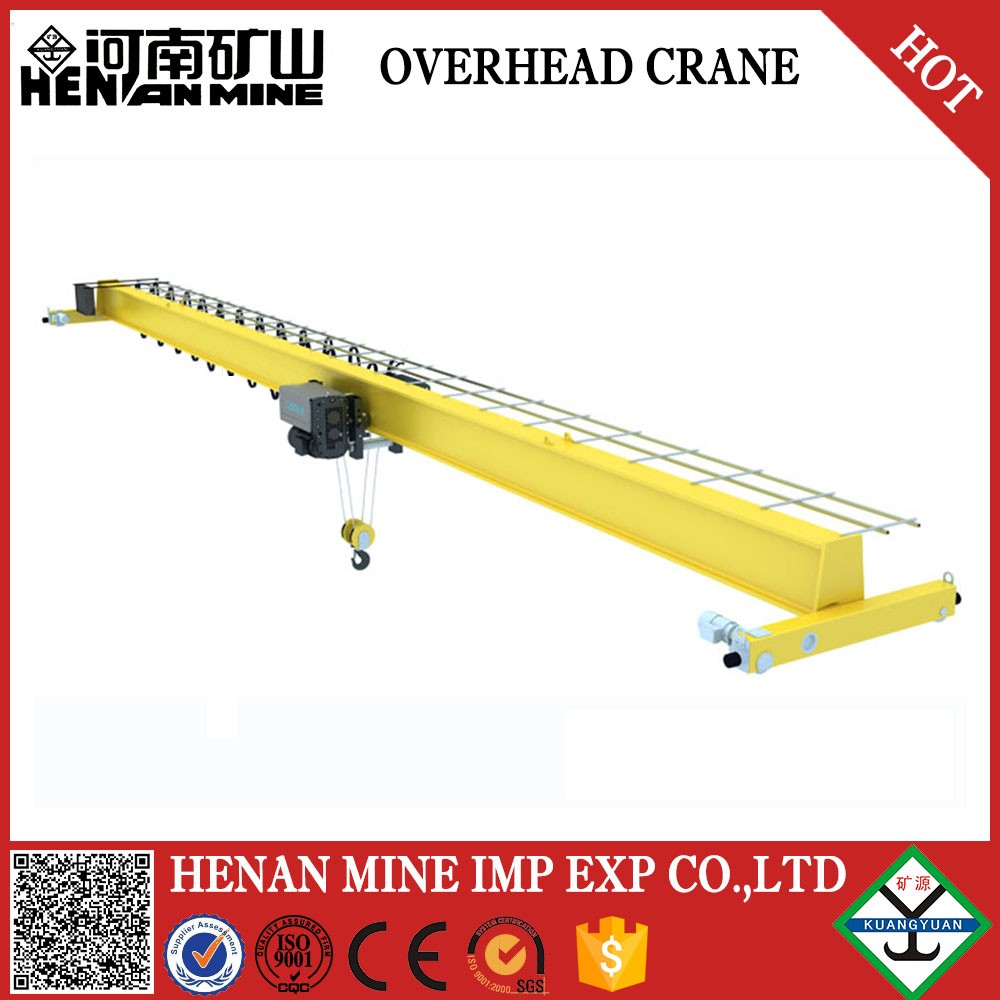 Siemens Motor Equipped Remote Control Single Beam 3Ton Overhead Bridge Crane And Crane Rail