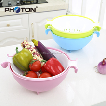 Factory direct sale plastic Christmas fruit basket with draining and storage function