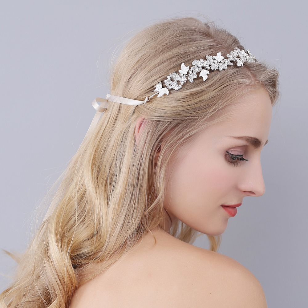 crystal nupcial tiaras diadema corona de novia joyera del pelo de la venda del pelo adorno