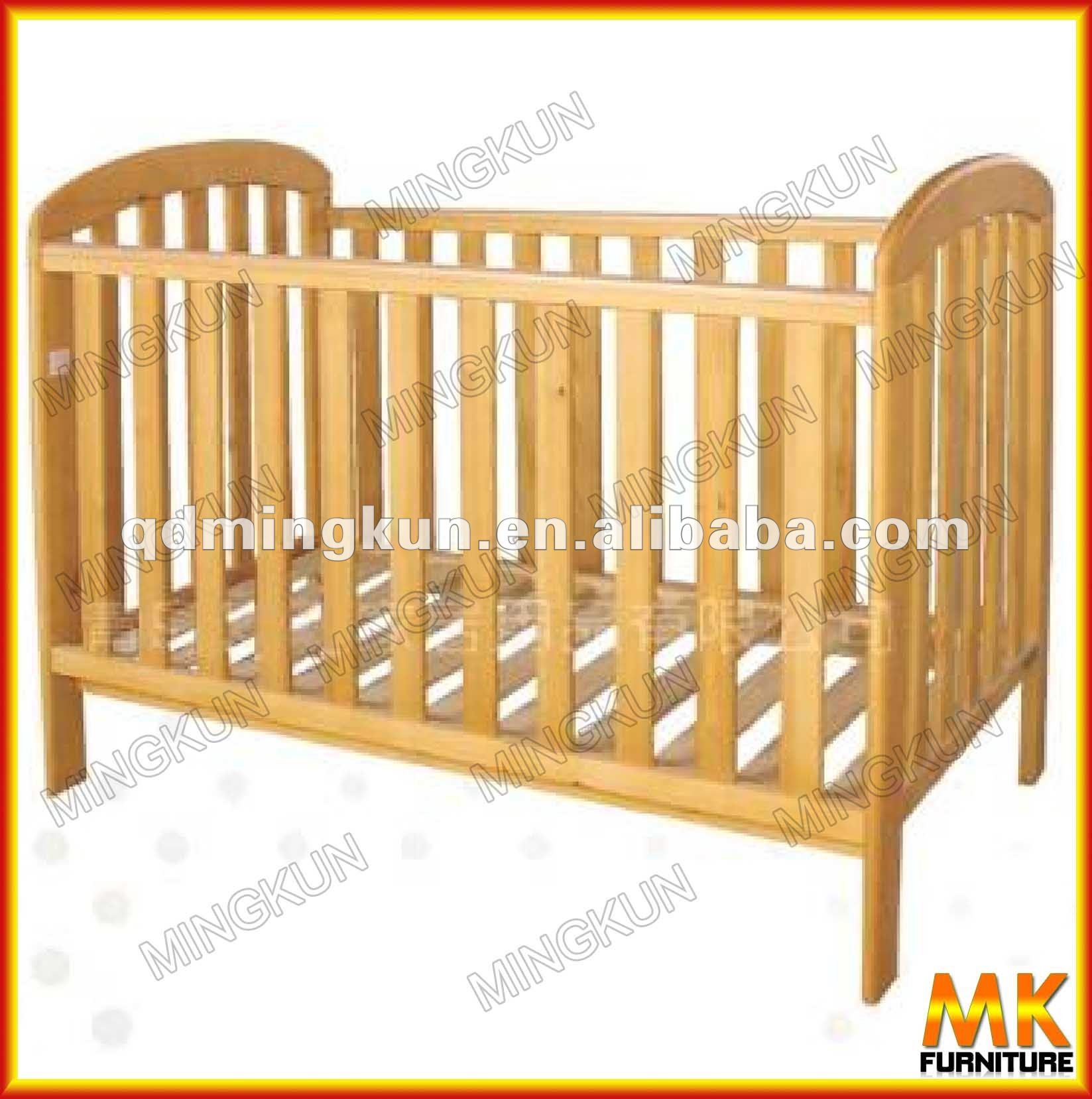 Baby cribs unfinished wood - Natural Pine Wood Baby Crib Natural Pine Wood Baby Crib Suppliers And Manufacturers At Alibaba Com