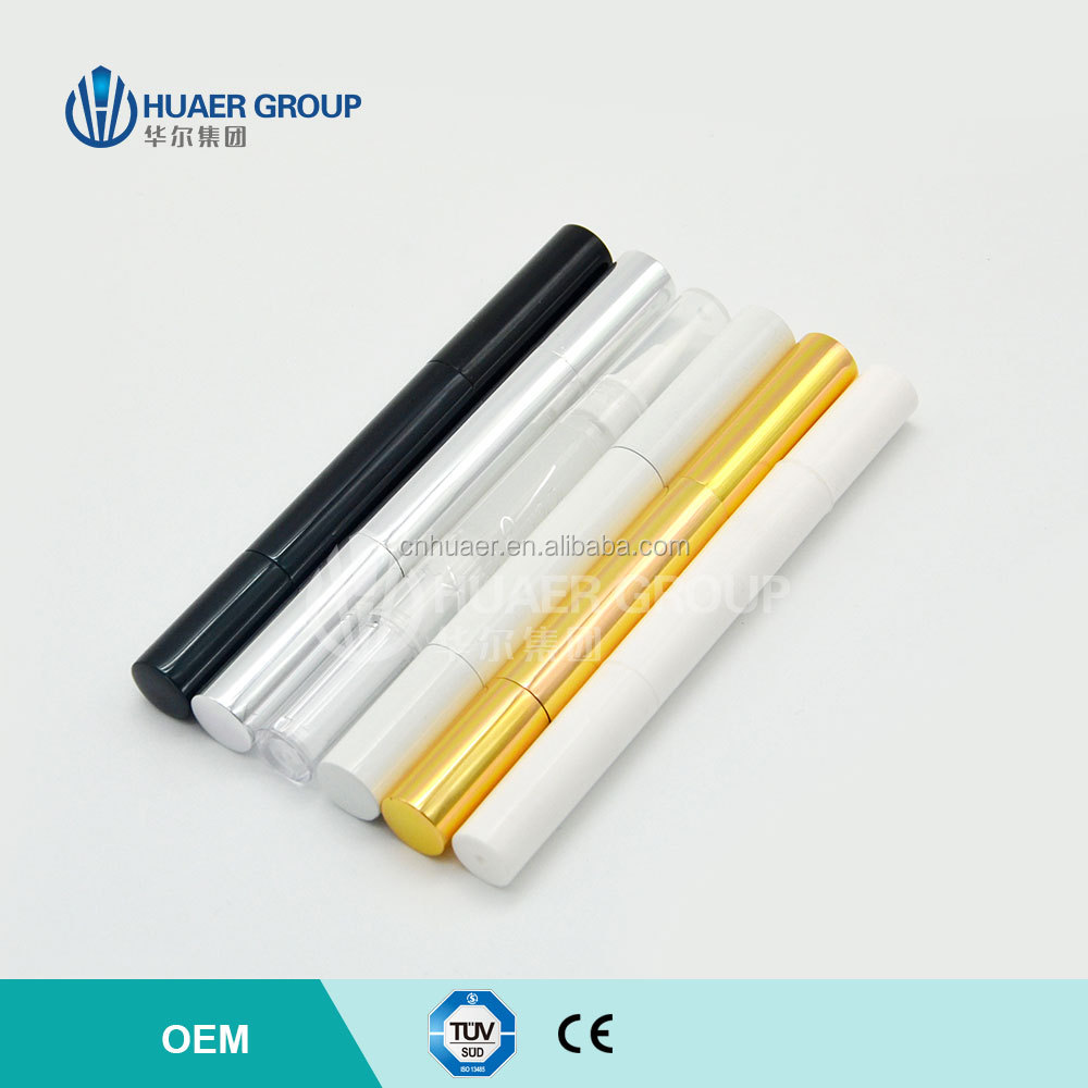 Dazzling Bright Dental Bleaching Gel Pen With Soft Brush & Fashionable Gold Silver