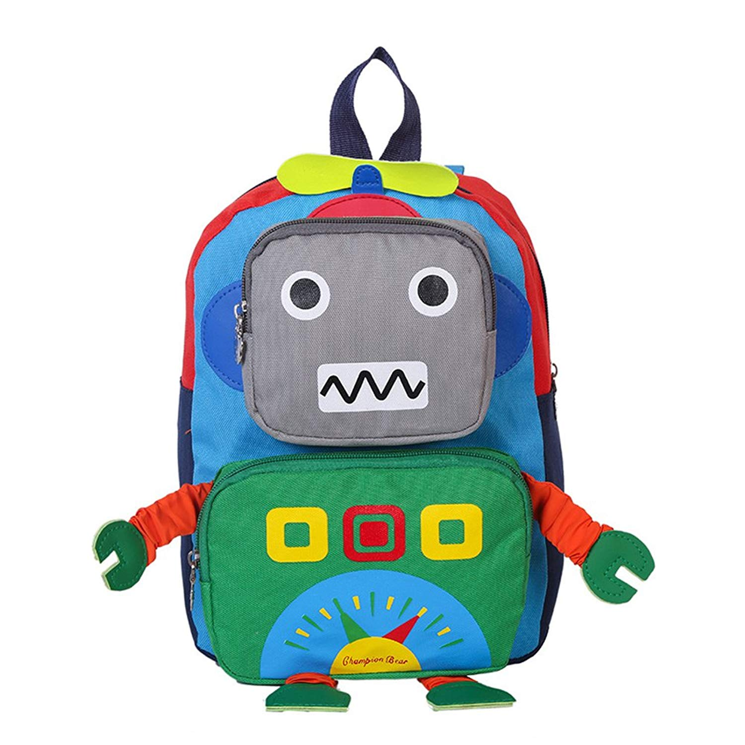 c855b8855d Get Quotations · Kids Backpack Preschool Toddler Backpack 3D Robot Children  Backpacks