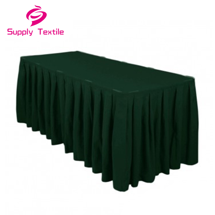 Wholesale White Polyester Wedding Square Table Cloth Banquet Party