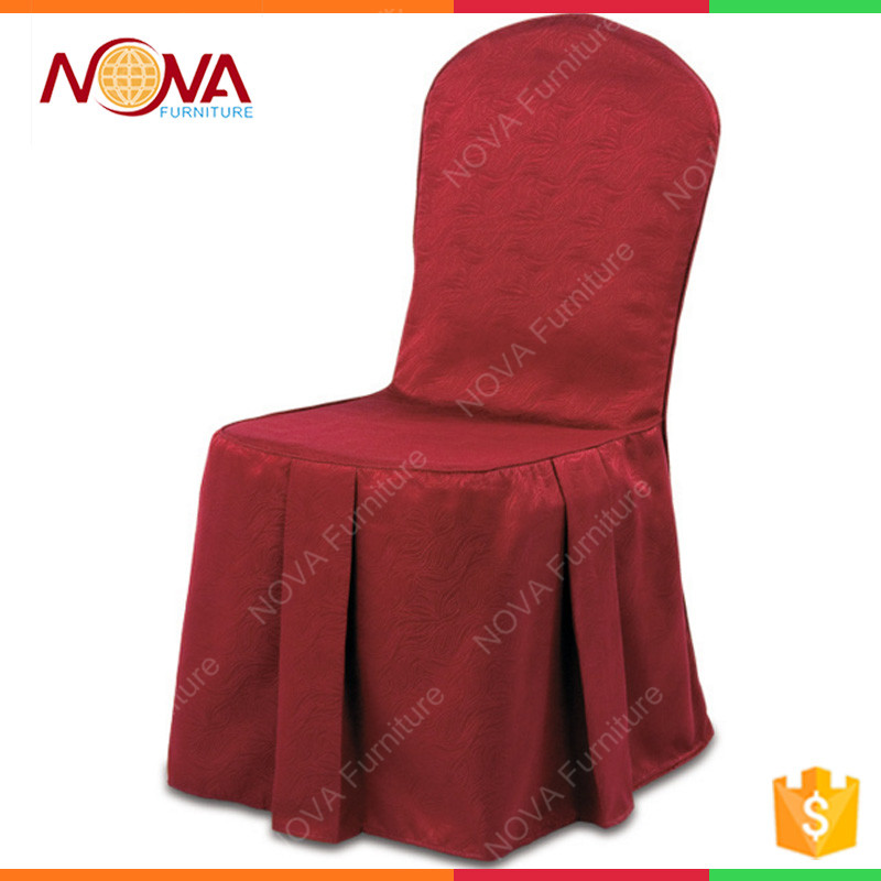 Professional new design peach rouched/shirred best quality stain sash banquet wedding lycra chair cover with decoration for sale