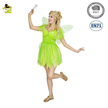 new design brilliant halloween costume Green Elf Angel style party costumes with wings for cosplay