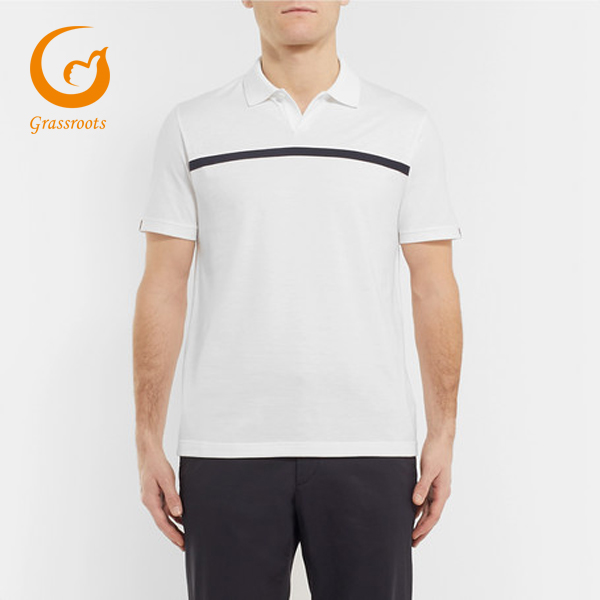 Matches Striped Jersey Golf Polo Shirt