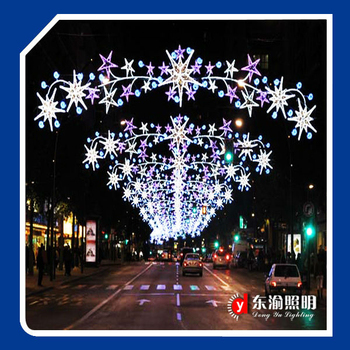 customized street crossing led motif decorations lights outdoor decorative led arch christmas light motifs