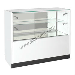 Sieraden showcase en vitrinekast/wit glossing display case (WCT2)