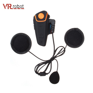 BT-S2 1000m waterproof motorcycle wireless BT helmet intercom with FM radio