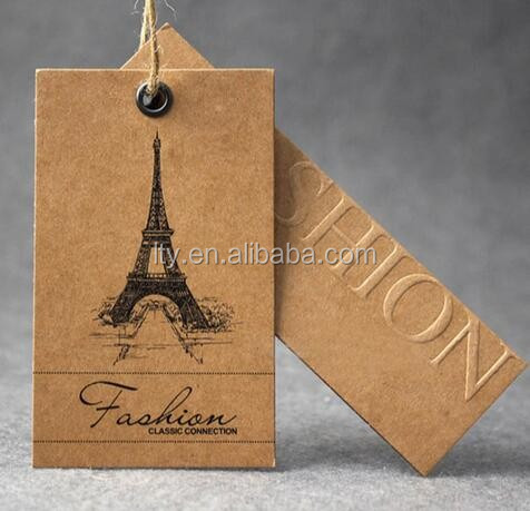 Luxury Matt Lamination Customized Paper Label Hang Tag Clothing Tag