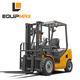 Mini 4.0 ton Diesel Forklift Truck with Dual Front Wheels and 4800mm 3 Stage Mast and Side Shifter