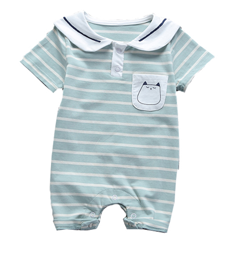 printed stripe newborn infant rompers wholesale clothing baby