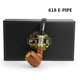 China supplier electronic vaporizer crack pipe 18350 battery 618 wooden e pipe