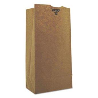 Duro ID# 29812 12# Husky SOS Bag 50# 100% Recycled Natural Kraft 500pk (2 packs of 250) 7-1/16 x 4-1/2 x 13-3/4