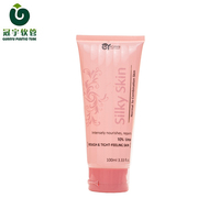 100ml glossy silkscreen printing cosmetic plastic tube for face wash face clean hand cream packaging