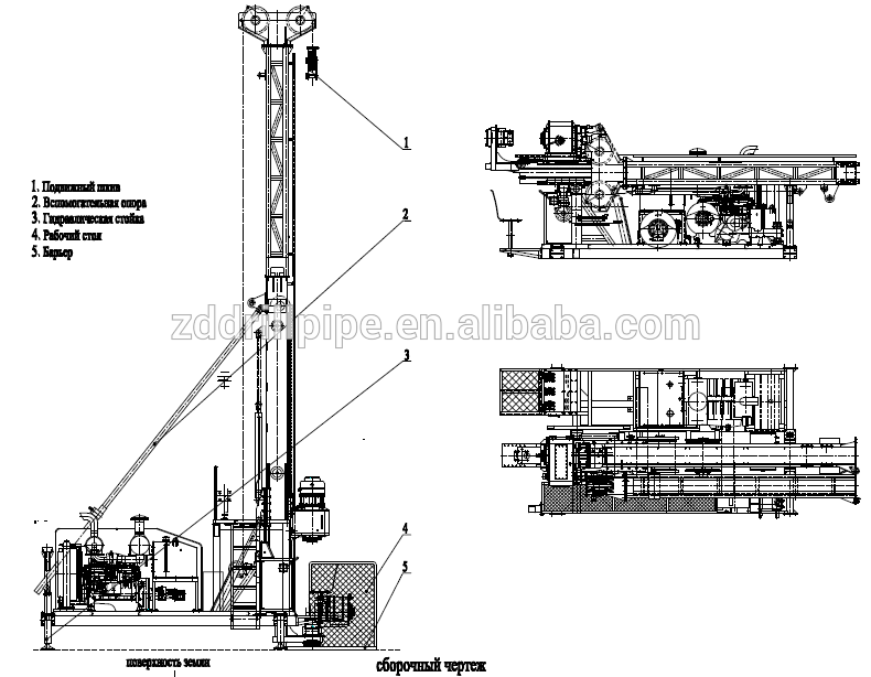 J Hydx-5a Full Hydraulic Diamond Core Drilling Rig Machine Mine Equipment -  Buy Full Hydraulic Drilling Rig,Diamond Core Drilling Machine,Mine