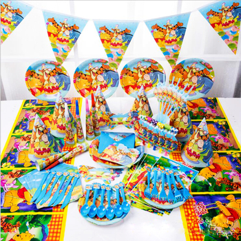Cartoon Design Birthday Party Supplies Decorations Paper Party Tableware Set