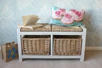 Gloucester Petite 9 Drawer Storage Wicker Rattan Basket Drawers ...