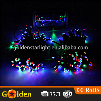 multicolor solar powered 100 pcs string christmas garden court decorative small battery operated led light