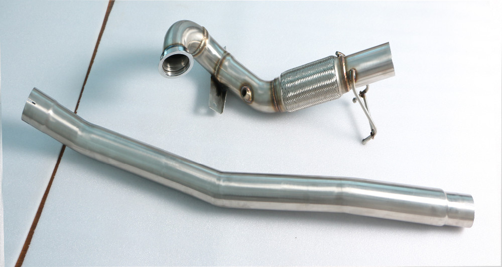GRWA Thickness 1.5 mm 2.0L 3'' Stainless Steel Exhaust Downpipe For Golf MK7