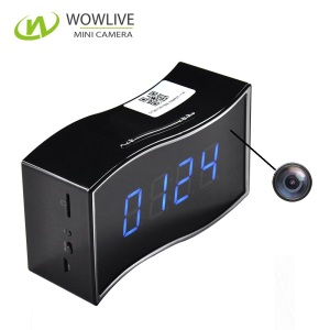 Max 64GB WiFi Mobile Mini Spy Clock Camera Motion Detection Hidden camera