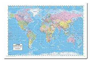 Buy world political map poster magnetic notice board silver framed iposters political world map 2013 poster magnetic notice board white framed 965 x 66 cms approx 38 x 26 inches gumiabroncs Choice Image