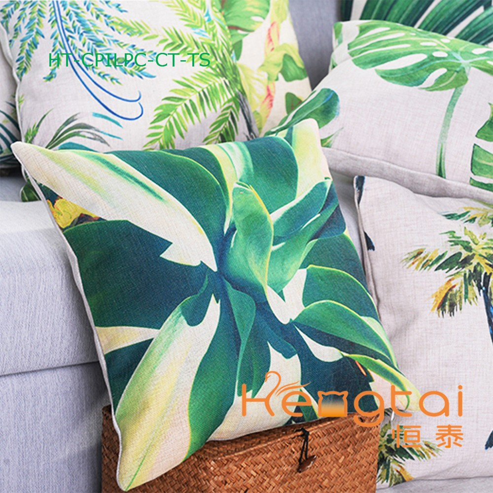 New Style Cushion Custom Printing Sofa Car Retro Linen Cushion Cover Wholesale Decorative Throw Pillow Cover Pillow Case HT-CPIL