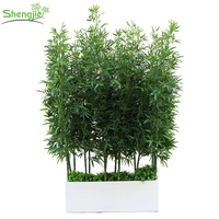 Nearly natural plastic artificial bamboo screen plants outdoor indoor decoration