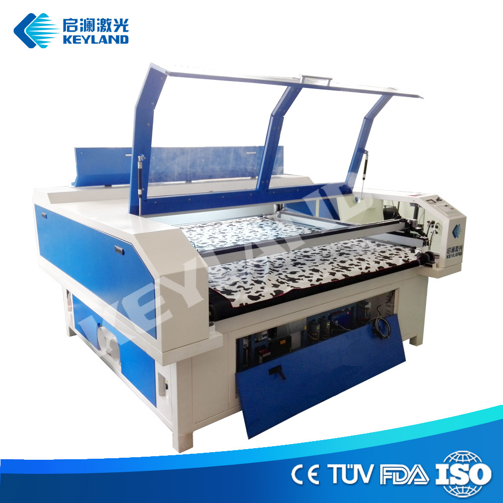 Advertising automatic feed auto focus CCD camera flatbed fabric cardboard laser cutting / cuting machine price