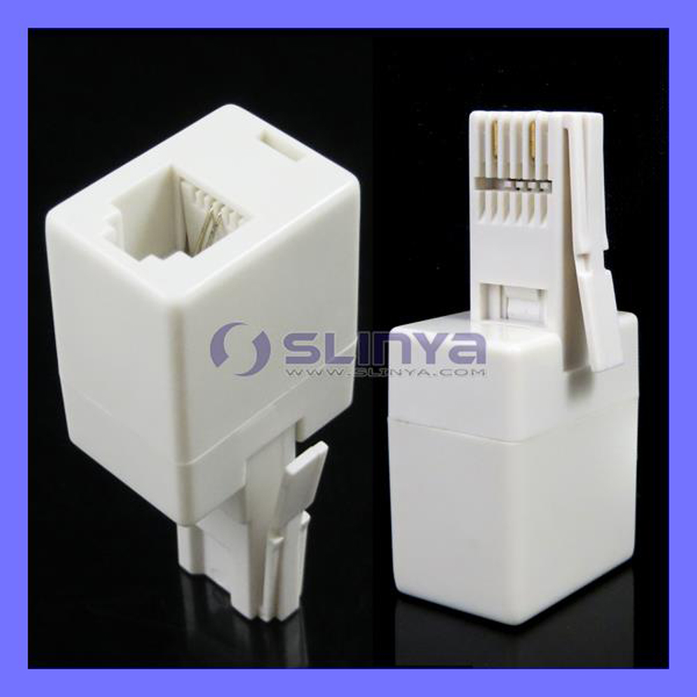 BT Male UK Plug to 6P4C RJ11 US Telephone Socket Cable Connector