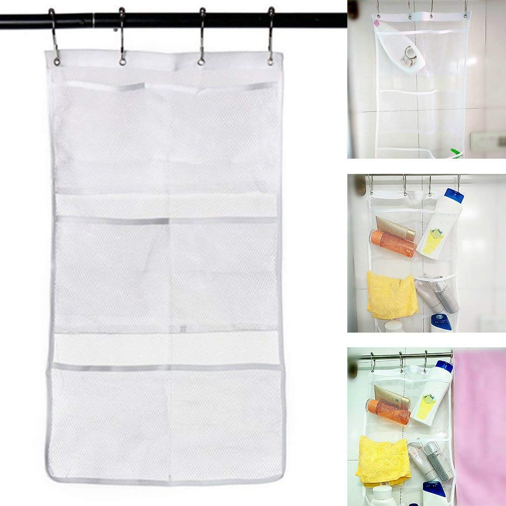 Get Quotations Yvonne Mesh Bath Organizer Quick Dry Hanging Shower Storage Bag With 6 Clear